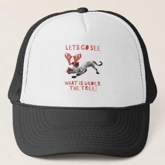Sneaky Cat Reindeer Trucker Hat