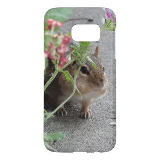 Sneaky Chipmunk in Lantana Flowers