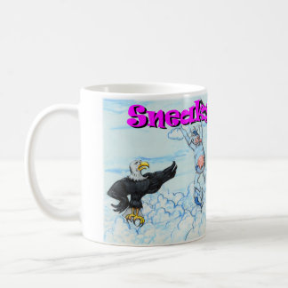 Sneaky Cows and Crabby Eagles Basic White Mug