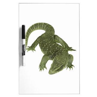 Sneaky Galapagos Iguana Dry Erase White Board