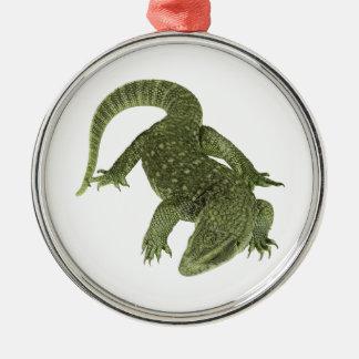 Sneaky Galapagos Iguana Metal Ornament