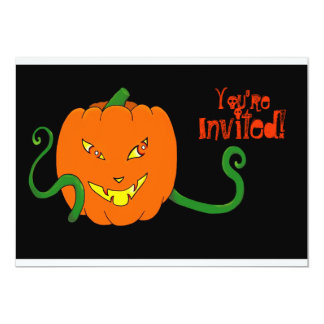 Sneaky pumpkin Halloween party invitation