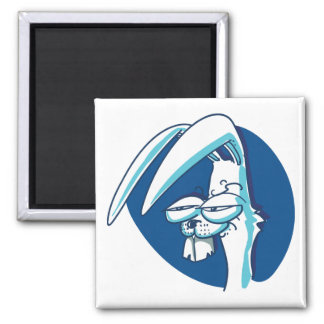 sneaky rabbit smiling funny cartoon magnet