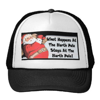 sneaky santa mesh hats