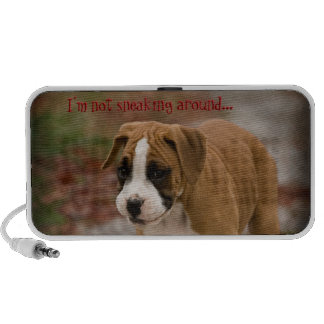 Sneaky Smiling Boxer Puppy Dog Doodle Speaker