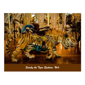 Sneaky the Tiger Spokane, WA. Postcard