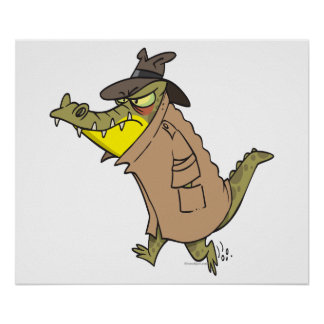 sneaky thug croc crocodile cartoon character posters