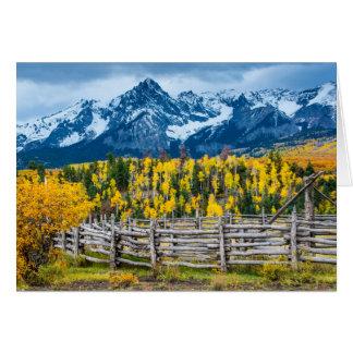 Sneffels Mountain Corral in the Fall - Colorado Card