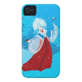 Snegurochka russian style illustration. Snowmaiden iPhone 4 Case-Mate Cases