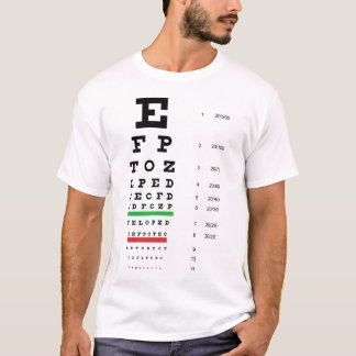 Snellen Eye Chart Basic T-Shirt