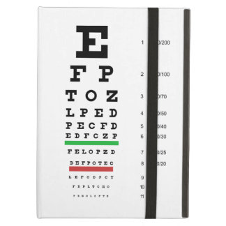 Snellen Eye Chart iPad Covers