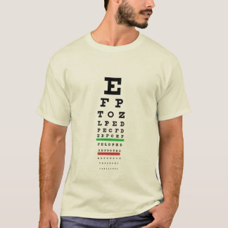 Snellen Eye Chart Shirt
