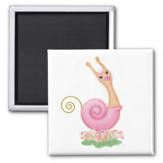 """""""Sneople"""" Baby Girl Square Refrigerator Magnet"""