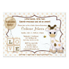 Snickerdoodle Giraffe Baby Shower Invitations