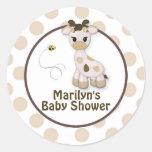 Snickerdoodle Giraffe Baby Shower Stickers