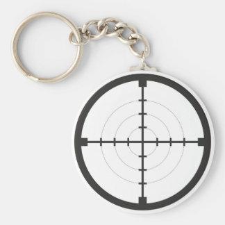 sniper finder target symbol weapon gun army key chains
