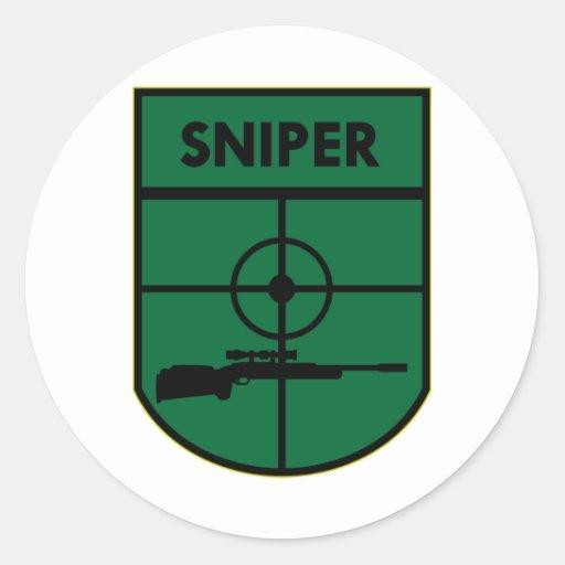 Sniper Patch Round Sticker