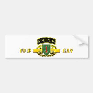 Sniper Tab 19D Cav Scout 1st ID Car Bumper Sticker