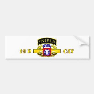 Sniper Tab 19D Cav Scout 82nd Bumper Sticker
