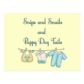 Snips and Snails and Puppy Dog Tails Postcard