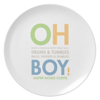 Snips & Snails Baby Boy's Personalized Gift Plate