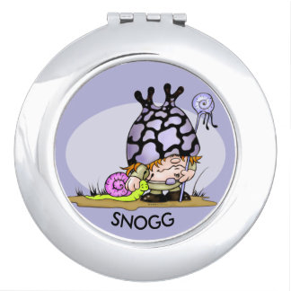 SNOG & TRIPOK CARTOON LOVE compact mirror ROUND 2