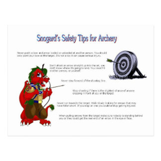 Snogard's Safety Tips for Archery Postcard