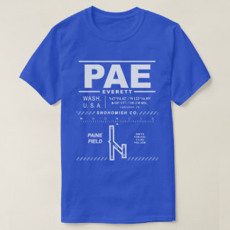 Snohomish Co Airport / Paine Field PAE Tee Shirt