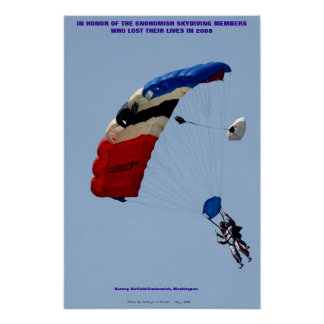 Snohomish Sky Diving Members Poster