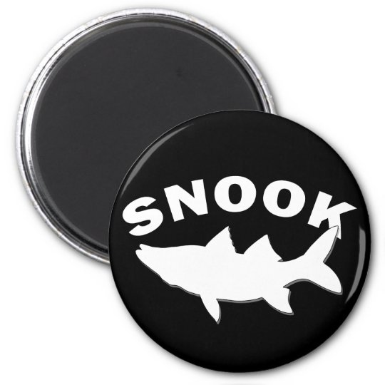 Snook Silhouette - Snook Fishing 6 Cm Round Magnet