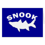 Snook Silhouette - Snook Fishing Stationery Note Card