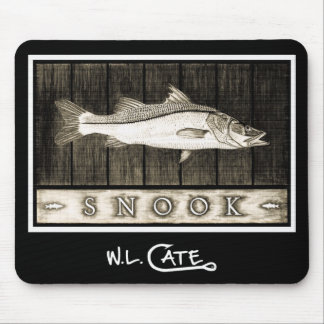 Snook Vintage Black & White Mouse Pads