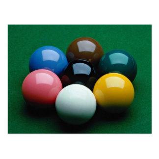 Snooker equipment postcard