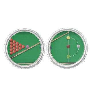 Snooker game cufflinks