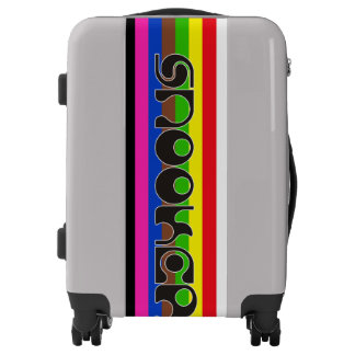 SNOOKER modern font & colored stripes + your ideas Luggage