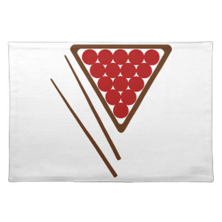 Snooker Rack and Snooker Cues Placemat