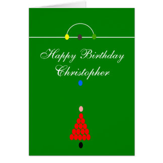 Snooker Table Just Add Name Birthday Card