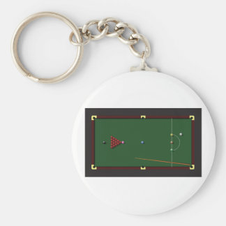 Snooker Table Keychain