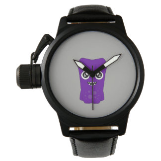 Snoomies Custom Black Vintage Leather Watch