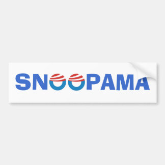 Snooping Obama Bumper Sticker