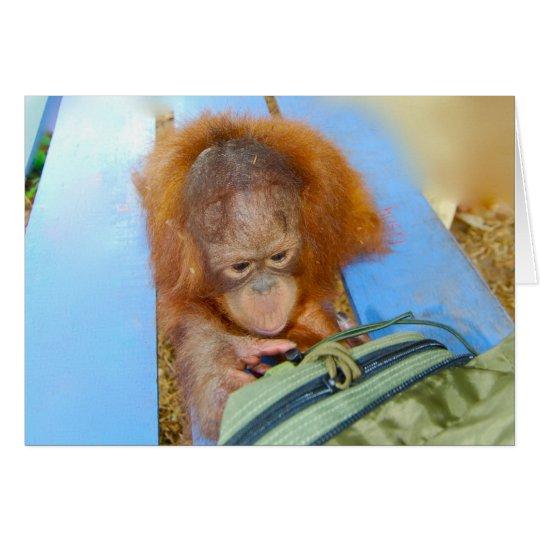 Snoopy Baby Orangutan Card