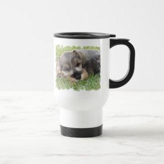 Snoozing Schnauzer Travel Mug