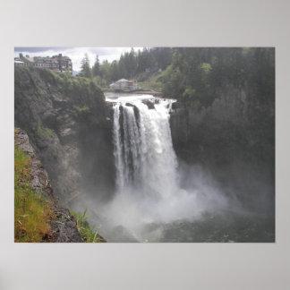 Snoqualmie Falls Landscape Poster