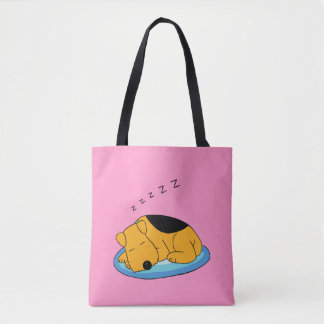 Snoring Airedale Terrier Dog All-Over-Print Tote