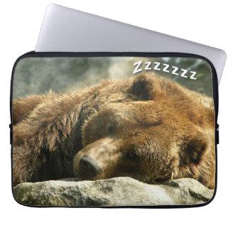Snoring Bear Laptop Sleeve
