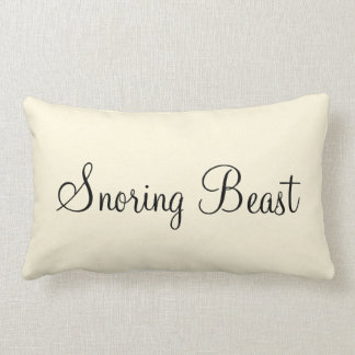 """Snoring Beast"" Personalized Text Design Lumbar Cushion"
