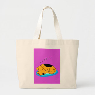 Snoring Cartoon Airedale Terrier Dog Jumbo Tote