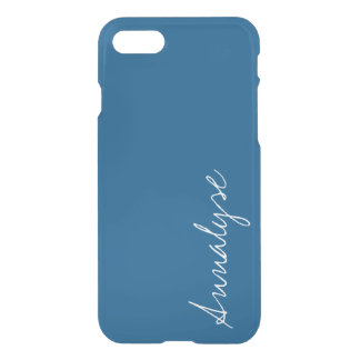 Snorkel Blue Royal Nautical Solid Color Custom iPhone 8/7 Case