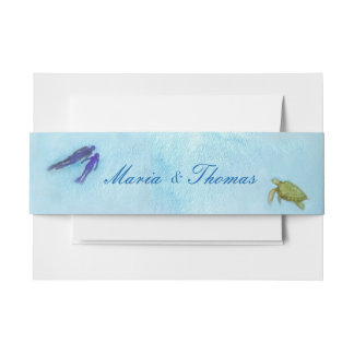 Snorkel Couple Belly Band Invitation Belly Band