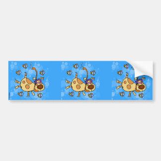 snorkel doggy scrapbook sticker bumper sticker